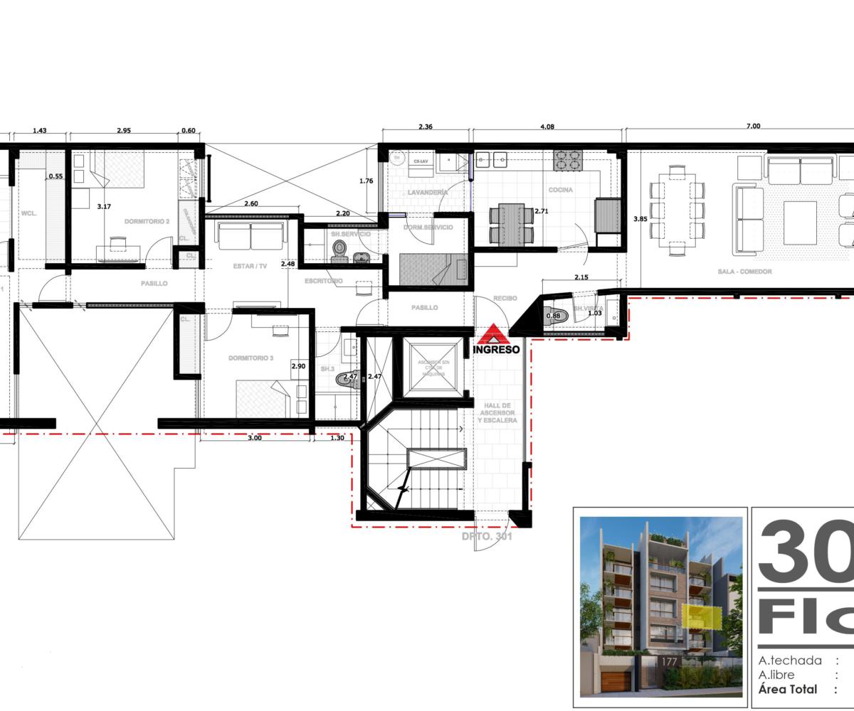 plano flat proyecto